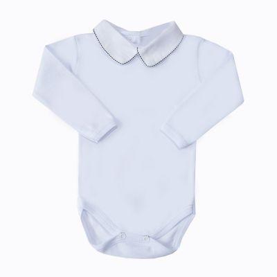 Body bebê tracinho - Branco e preto