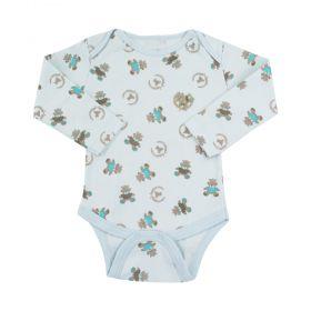 Body bebê ursinhos - Azul bebê