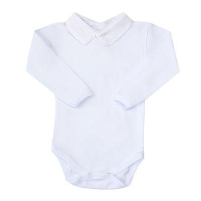 Body bebê vivo em cetim - Branco