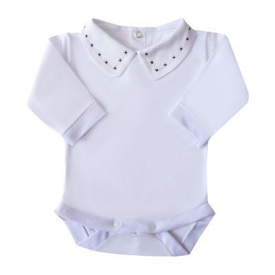 Body bebê x - Branco e preto