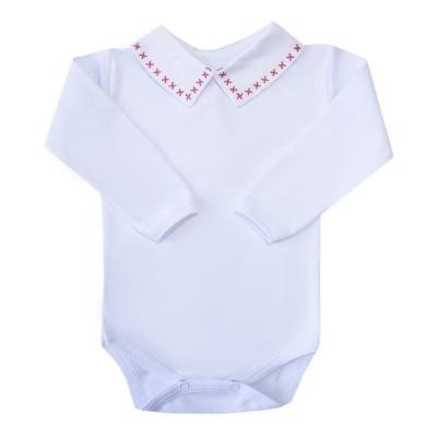 Body bebê X - Branco e vermelho