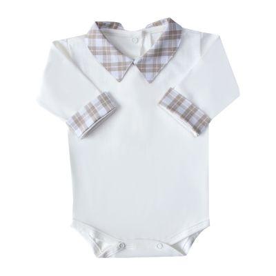 Body bebê xadrez - Off white e rolex