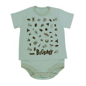 Body bebê estampado - Verde