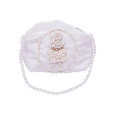 Bolsa bebê bordada - Marfim