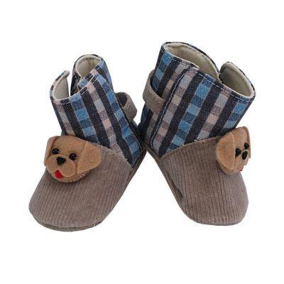 Botinha bebê cachorrinho - Bege