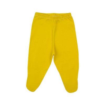 Calça bebê com pé - Amarelo