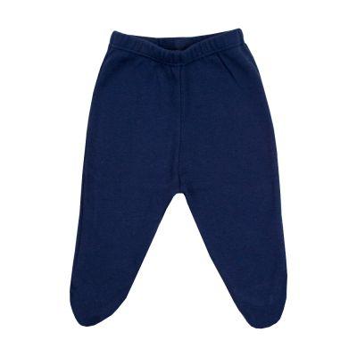 Calça bebê com pé - Azul naval