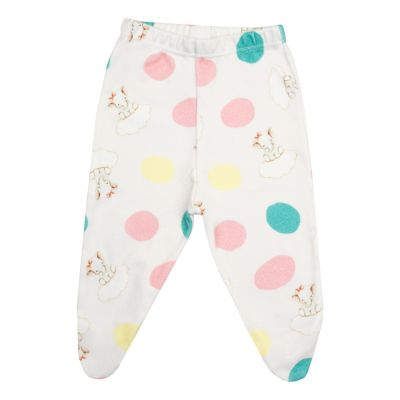 Calça bebê com pé elefantinho - Branco