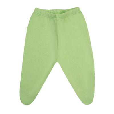 Calça bebê com pé - Verde claro