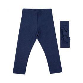 Calça bebê com turbante - Jeans