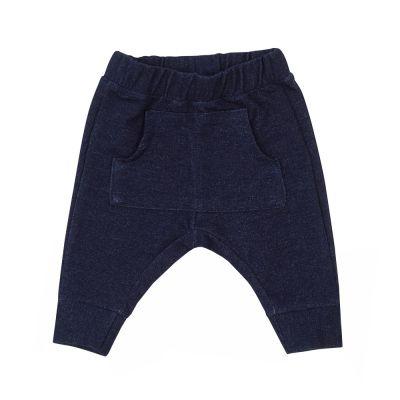 Calça bebê saruel com bolso - Jeans