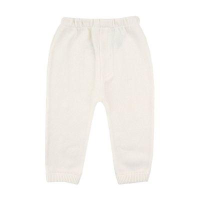 Calça bebê sem pé em tricot - Marfim
