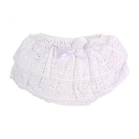 Calcinha bebê em lese - Branco