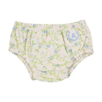 Calcinha bebê floral - Verde claro