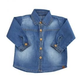 Camisa bebê feminina - Jeans
