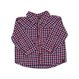 Camisa bebê masculina - Preto e vermelho