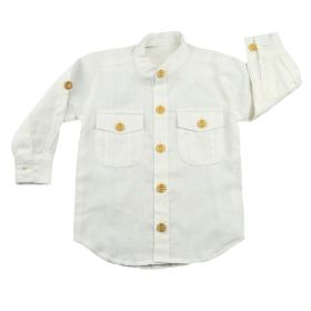 Camisa manga longa bebê  - Branco