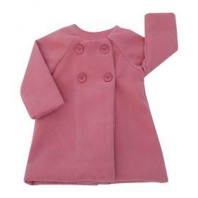 Casaco bebê feminino - Rosa cravo