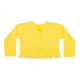 Casaco bebê pom pom - Amarelo