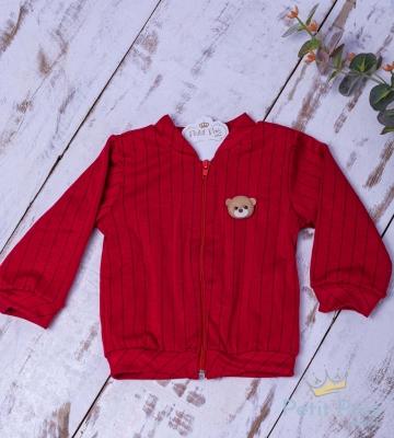 Casaco bebê ursinho - Vermelho