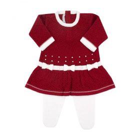 Conjunto bebê 3 laços com cristais swarovski - Vermelho