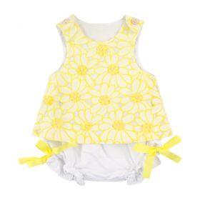 Conjunto bebê - Branco e amarelo