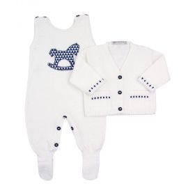Conjunto bebê cavalinho - Branco