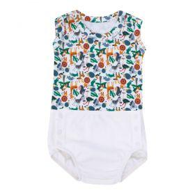 Conjunto bebê com body e cueca - Marfim