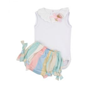Conjunto bebê cupcake 2 peças - Branco