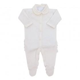 Conjunto bebê feminino 2 peças - Marfim