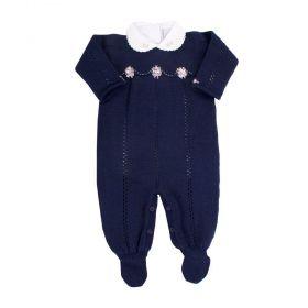 Conjunto bebê feminino - Azul marinho