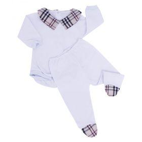 Conjunto bebê masculino 2 peças - Branco