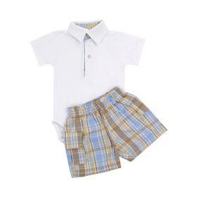 Conjunto bebê masculino - Branco e rolex