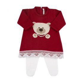 Conjunto bebê ursinha - Vermelho