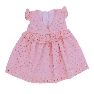 Vestido bebê com calcinha - Rosa
