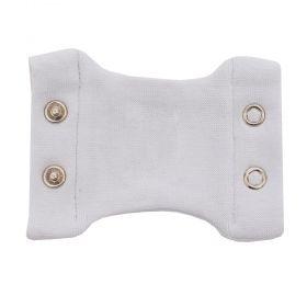 Extensor de body bebê 2 botões - Branco
