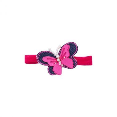 Faixa bebê de meia borboleta - Pink