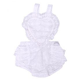 Jardineira bebê bordada - Branco