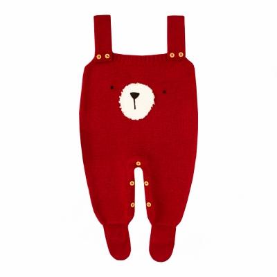 Jardineira bebê urso - Vermelho