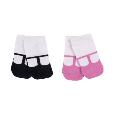 Kit bebê com 2 meias - Branco