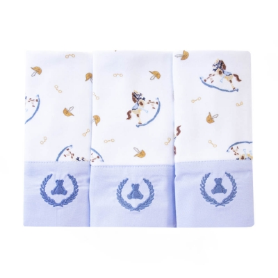 Kit toalha de boca com 3 peças cavalinho - Branco