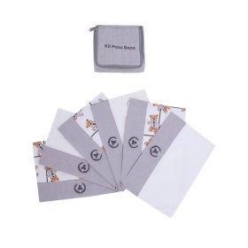 Kit toalha de boca com 6 peças ursinho - Off white