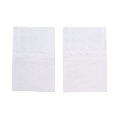 Kit toalha de boca poás 2 peças - Branco