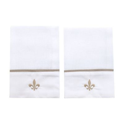 Kit toalha de boca poás 2 peças - Branco e rolex