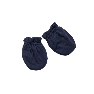 Luva bebê em suedine - Azul marinho