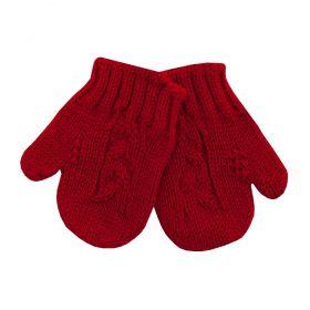 Luva bebê em tricot - Vermelho