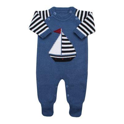 Macacão bebê barquinho - Azul
