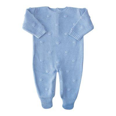Macacão bebê bolão - Azul bebê