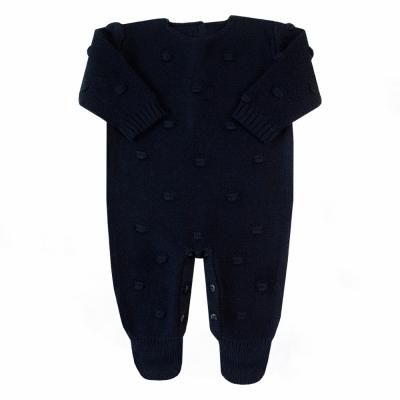 Macacão bebê bolão - Azul profundo