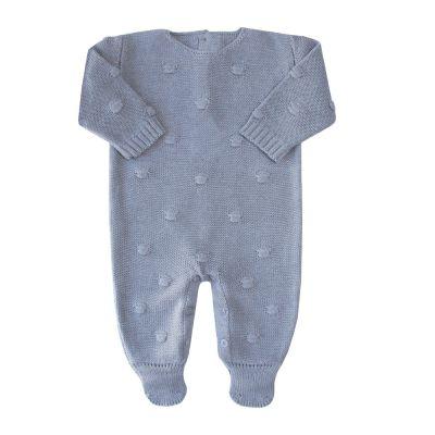 Macacão bebê bolão - Cinza
